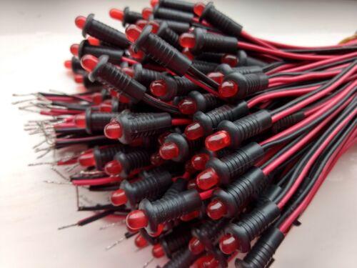12 voltios LED Empotrada Rojo constante-Perfecto Para Alarmas