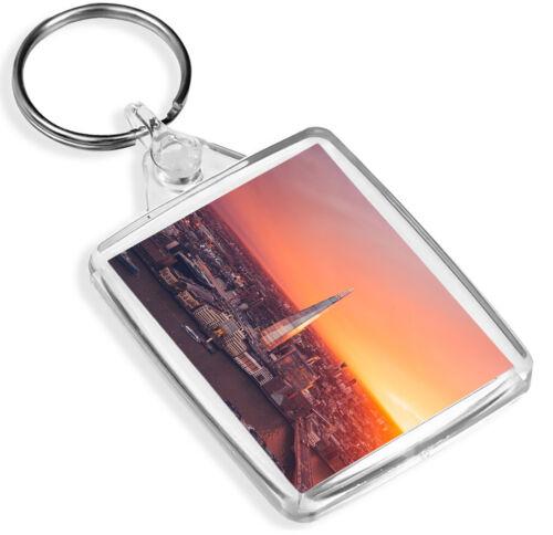 City Of London Skyline The Shard Keyring British Travel Cool Gift #16857 IP02