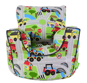 Cotton-Transport-Road-Map-Bean-Bag-Arm-Chair-with-Beans-Child-Teen-size-BeanLazy