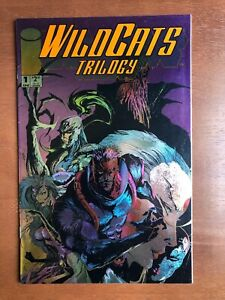 WildC-A-T-S-Trilogy-1-1993-9-2-NM-Image-Key-Issue-Comic-Book-Foil-Cover