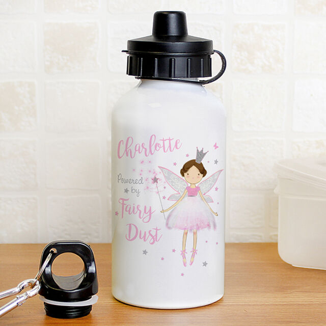 b4514d54e7f Personalised Pink Fairy Princess Gym Bike School WATER Drinks BOTTLE Girls  Gift