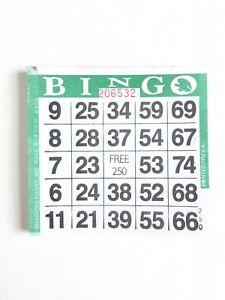 1 on Single Face Bingo Paper Cards Color Orange Border Pack of 500