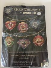 NEW Dimensions Gold Collection TIMELESS ELEGANCE ORNAMENTS Cross Stitch Kit 8706