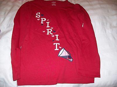 NWT Gymboree Girls Homecoming Kitty Red Spirit Cheerleader Tee Size 3