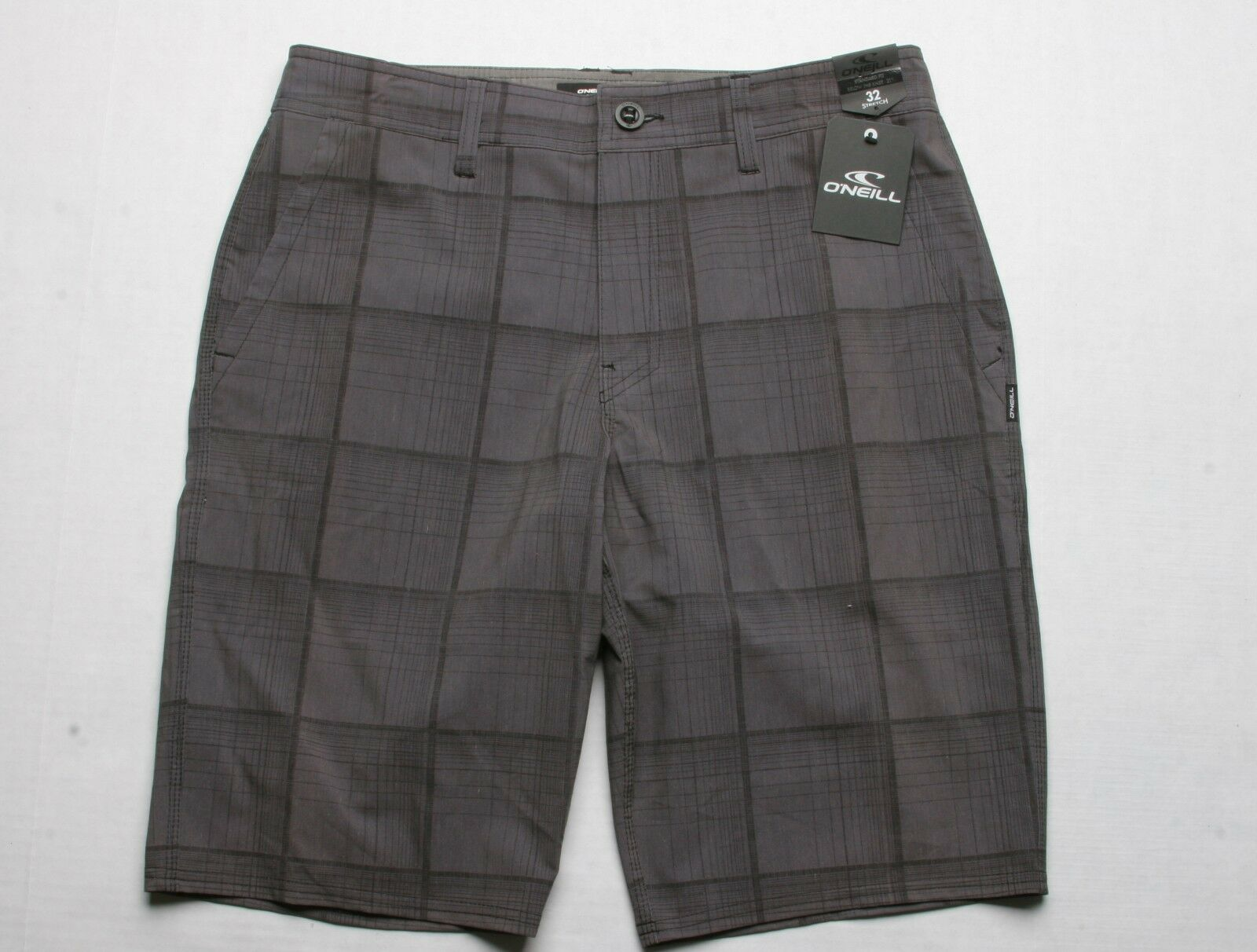 O'Neill Outsider Plaid Short (32) Dark Charcoal