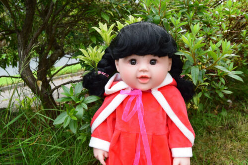 "EXCLUSIVE LARGE 18/"" RED RIDING HOOD BABY GIRLS VINYL DOLL 46CM"