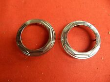 """2 USED 75-78 Lincoln Continental Wheelcover Center Ornaments 4 1/4"""" D5VA-1141-AA"""