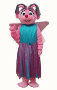Details About Pink Lovely Girl Cartoon Abby Cadabby Mascot Costume Suit Party Dress Adult Size