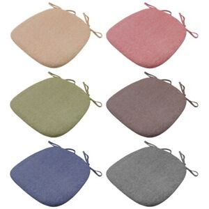 Foam-Chair-Cushion-Seat-Pad-Soft-Tie-On-Dining-Office-Pillow-Mat-Strap-Sanding-l