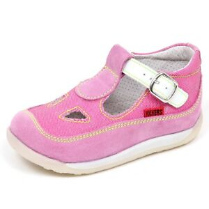 competitive price a5363 774a8 Details about E6914 sandalo bimba pink/fucsia KICKERS KRATE scarpe  suede/tissue shoe baby girl