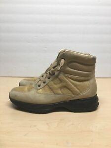 Details about HOGAN INTERACTIVE Mens Beige Tan Suede Walking boot Size EUR 40 USA 7