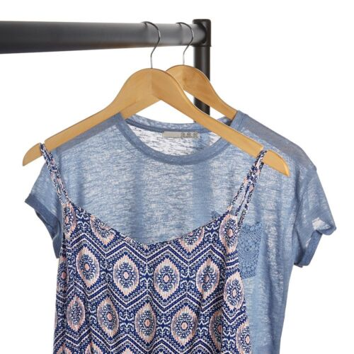 Jackets and Tops Ideal for Coats Wooden Clothes Hanger with Shoulder Notches