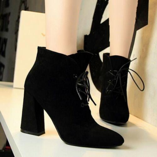 stivali stivaletti scarpe donna bassi stiletti 9 cm nero pelle sintetica CW734