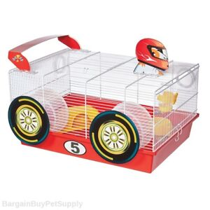 Midwest-Critterville-Race-Car-Hamster-Cage-Home-White-Red