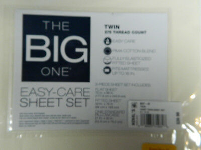 Big One Sheet Set Pima Cotton 275 tc 17 Deep Pocket Blue Tan STRIPED