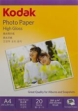 Kodak Photo paper High Gloss A4 Size 20 Sheet 200 g/m2 For Inkjet Printers