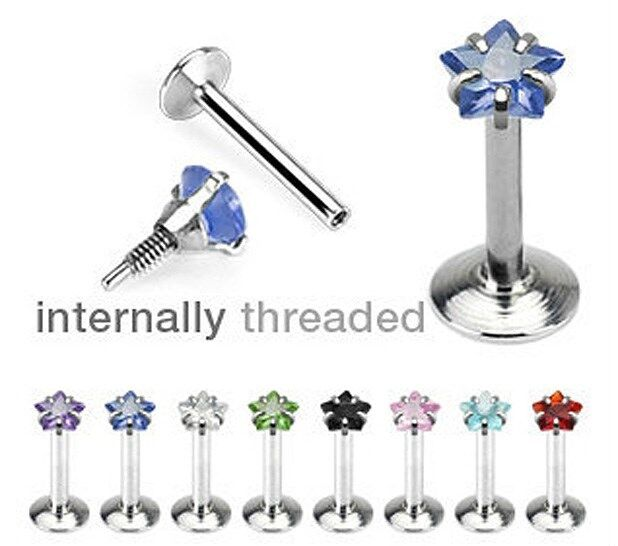 "16g 5/16"" ~3mm CZ WISHING STAR ~ Tragus Helix Cartilage Piercing Earring Stud"