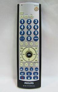 philips sru3003 27 3 device big button universal remote tv dvd rh ebay com philips universal remote control codes sru3003wm/17 philips universal remote codes sru3003
