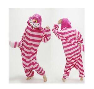 e9e98e4e6a30 Image is loading Cheshire-Cat-Onesie12-Kigurumi-Fancy-Dress-Costume-Cosplay-