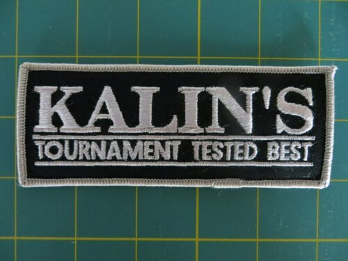 5 x 2 inch Vintage Mint Fishing Patch KALINS TOURNAMENT TESTED BEST