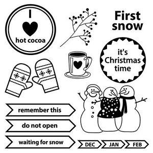 Motiv-Stempel-Happy-holiday-First-snow-Schneemann-ScrapBerrys-SCB4906006b