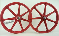Skyway Bmx 24 Tuff Wheels Cruiser Mags In Red Sealed Bearing Hubs Usa Made