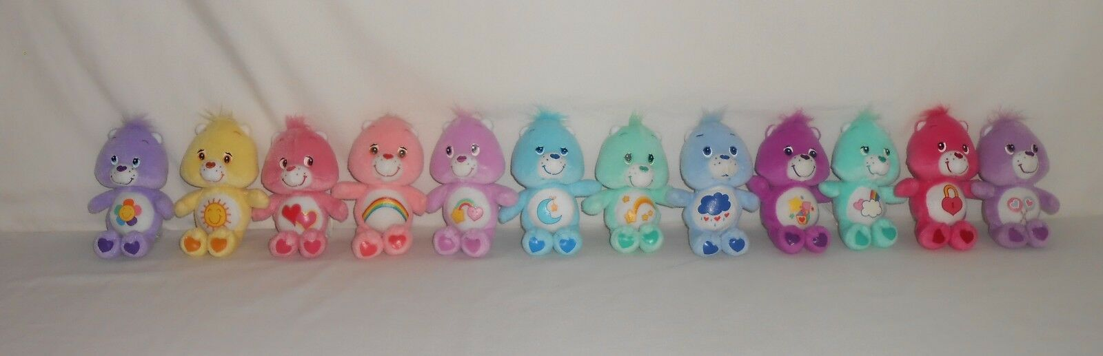 """RARE   Lot of 12 Those Characters from Cleveland 5"""" Plush Care Bears"""