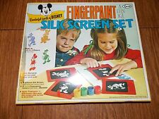 Vintage Disney Fingerpaint Silk Screen Silkscreening Mickey Mouse by Arrow *RARE