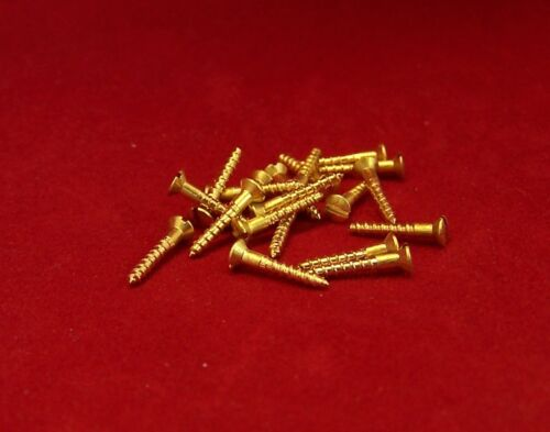 DIN 95 Lenses Countersunk Wood Screws Brass Blank Slotted 3,0 mm 10 to 40 MM