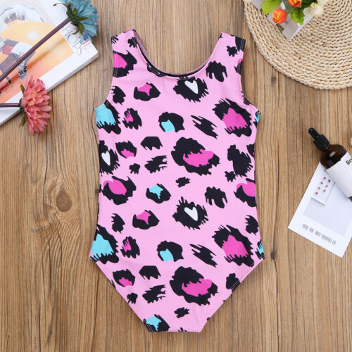 Child Girls Ballet Gymnastics Dance Leotards Leopard Mermaid Costume Dancewear