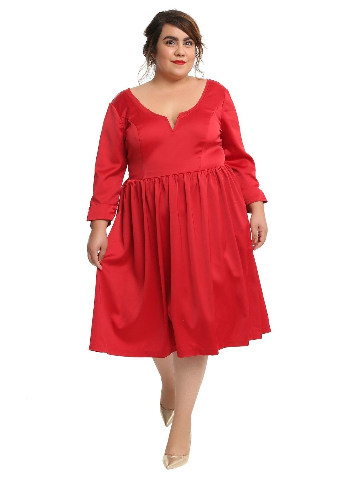 Outlander Red Party Dress Size Large New With Tags Licensed Plus Size 14