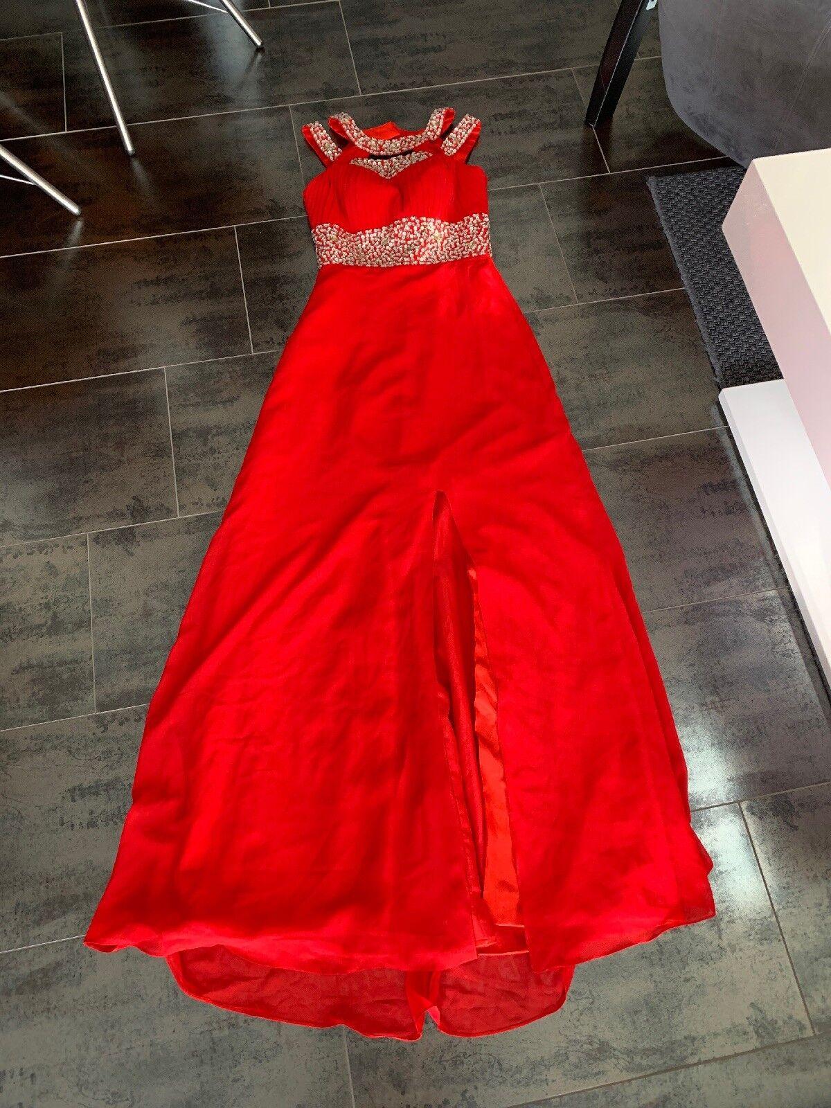 Abendkleid Abendkleid Abendkleid Rot Gr. 34 XS NEU   Roman    Attraktives Aussehen    Düsseldorf Eröffnung  f17c5e