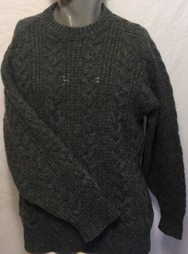 lana Traditionals Tamaño Suéter Pendleton mediano de Cable Tejido Country Vintage Grey wOqCO0