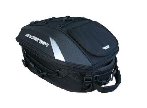 Bagster Spider Motorrad Satteltasche Rucksack schwarz Hecktasche weiß