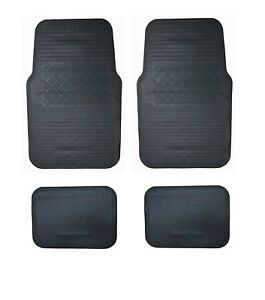 Alfombras-tapices-negro-4tlg-las-esterillas-de-goma-alfombrillas-coche-para-toyota-Alfa-Romeo-audi