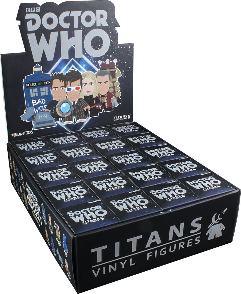 DOCTOR WHO  Gtuttiifrey 3 Blind scatola Titans Vinyl Figurines Display 20ct  nuovo