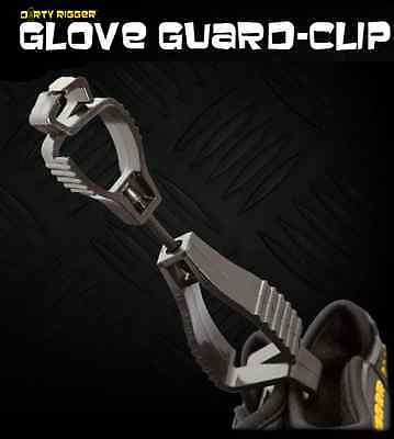 DIRTY RIGGER GLOVE CLIP SAVES DROPPING GLOVES FROM HEIGHT, RIGGING,STAGE, ETC