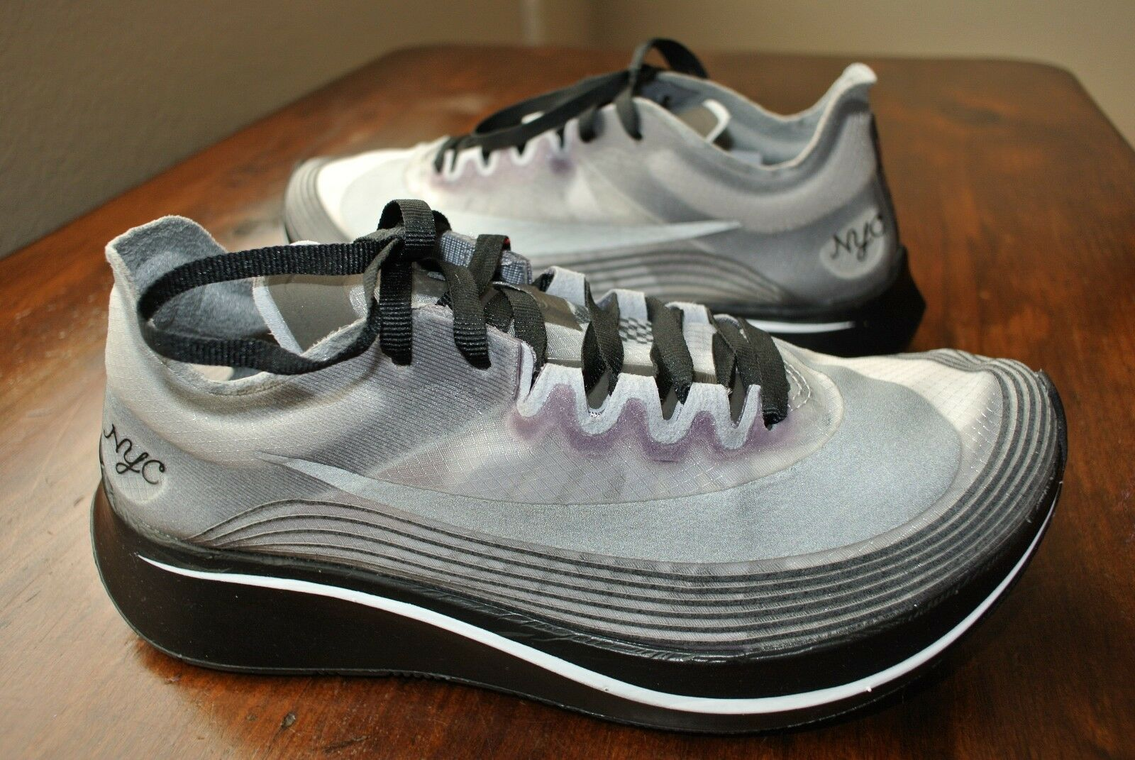 NIKE NikeLab ZOOM FLY SP NYC BLACK WHITE OREO AA5088 001 US MENS SZ 4.5 RARE SZ