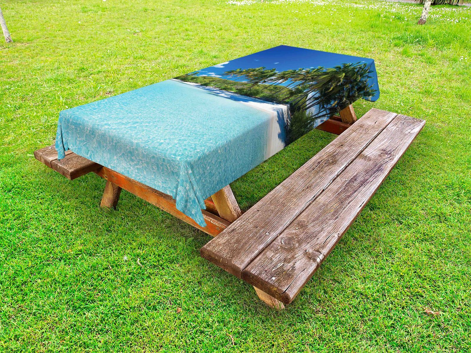 Sea Outdoor Picnic Tablecloth Relax Beach Resort Spa Print 58 58 58 X 120 Inches 93c52c