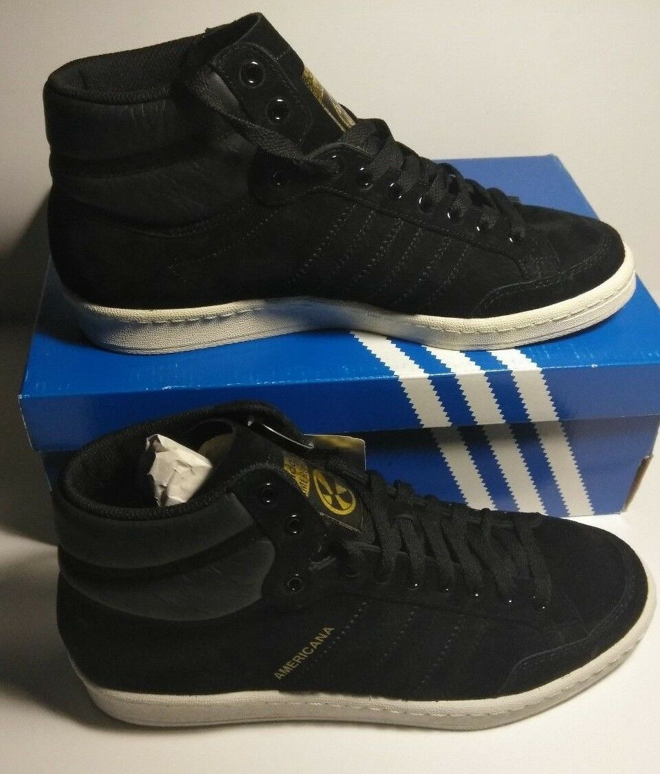 Adidas Originals Americana high top Hi 88 black suede Basketball SHOES