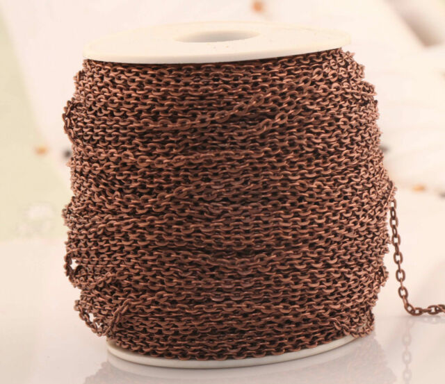 5/100m New Various Colors Cable Open Link Metal Chain Findings For Craft Jewelry