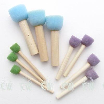 Royal Sponge Stippler Set of 10. Artists Art & Craft Stencil Sponge Brushes