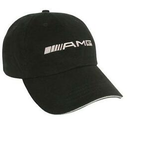 Mercedes benz amg cap hat black with white amg logo new for Mercedes benz amg hat