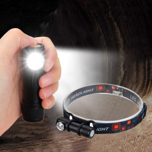 USB Rechargeable R2 LED Headlamp Head Lamp Torch Flashlight 18650 Battery light