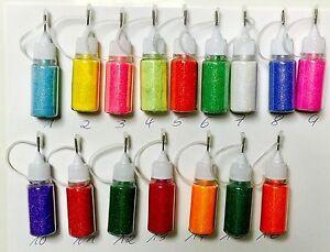 16x-10ml-Glitzerpuder-Glitterpuder-16-Farben-je-10ml-Druck-Spruehflasche-Nailart