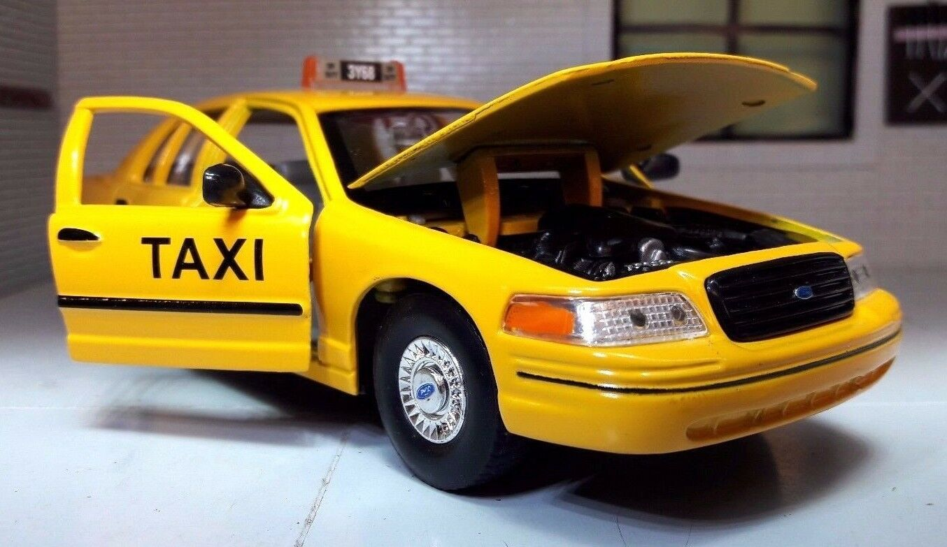 1 24 Escala Welly Ford Crown Victoria Nyc gul Taxi Fundito modelllllerlerismo Coche