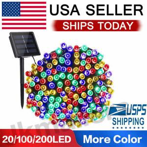 20-100-200-Led-Solar-String-Lights-Solar-Powered-Christmas-Fairy-String-Mt-Color