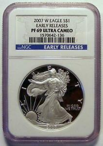 2010-W American Silver Eagle Proof NGC PF69 UCAM Early Releases