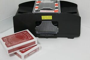 Automatic-Electronic-Poker-Card-Shuffler-Electric-Shuffling-Machine-w-2-Decks