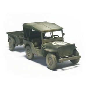 1//72 Plastic Military Car Toy Assembled Model Car Gifts DIY For Kids